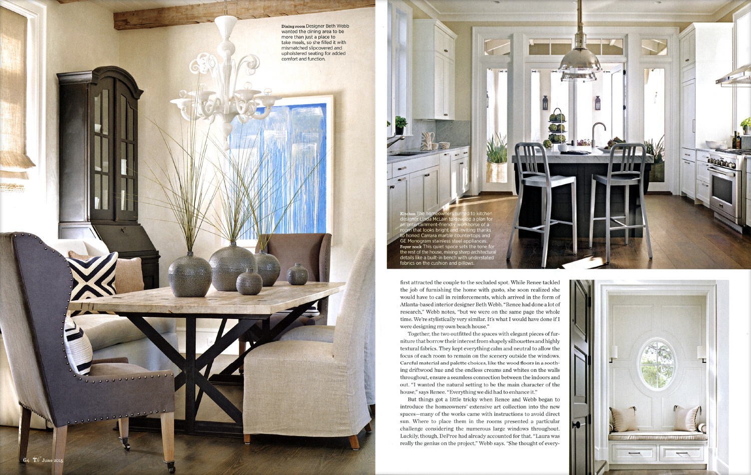 Traditional Home Magazine - June 2015 - Beth Webb Interiors